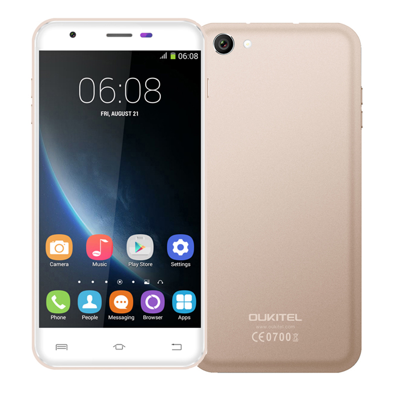 Original oukitel U7 Pro 5 5 inch Android 5 1 3G Smartphone MT6580 Quad Core  1 3GHz ROM 8GB RAM 1GB Dual SIM 2500mAh OTG WCDMA