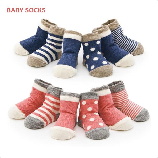 Four Colors New Born Baby Cotton Socks Four Size Cute Socks 0 6 Months 6 12