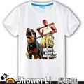 Cotton short sleeve man t shirts cute cartoon game man s shirt figure kids wear summer