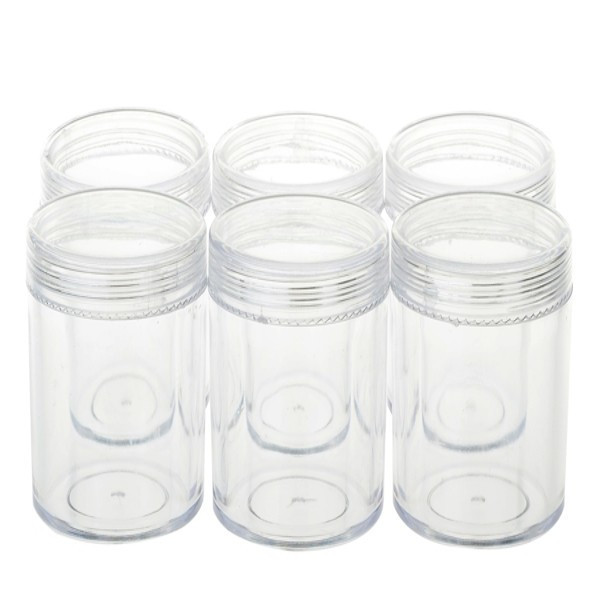 10 Pcs Lot Round Transparent Mini Plastic Box Container