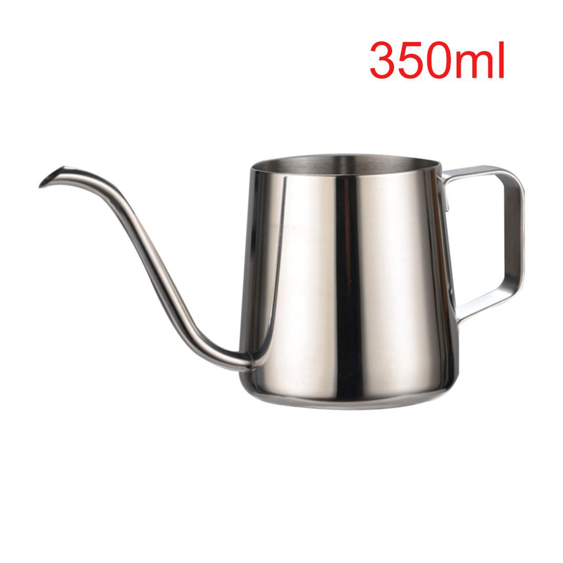 1 шт. 250/350 мл нержавеющая сталь Форма гусиной шеи ручная капельная кофейница носик с длинным горлом чайник кофеварка(Китай)