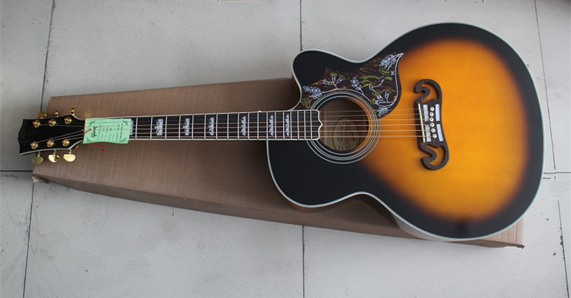 wholesale guitar factory high quality g sj200 acoustic guitar vintage sunburst acoustic guitar. Black Bedroom Furniture Sets. Home Design Ideas