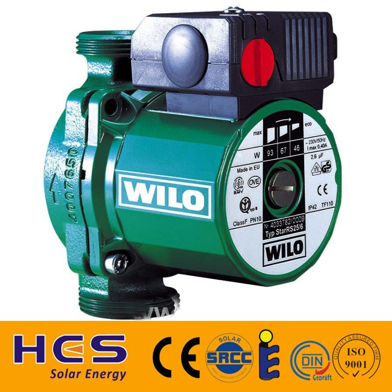 wilo circulate pump for split solar
