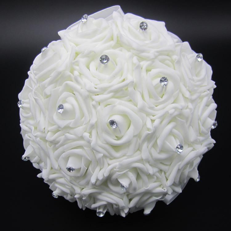 Wedding White Bouquet: Aliexpress.com : Buy Lovely White Wedding Bouquet Bridal