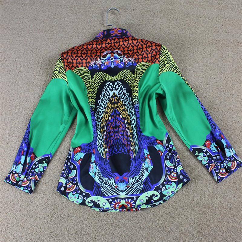 Xxl! Впп блузы лето женщины африканская печать длинный рукав свободного покроя блузка рубашки Feminino Blusas
