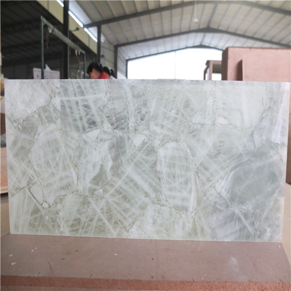 Natural Quartz Crystal Stone Backlit Tile Slab For