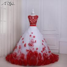 5278cd37bd Buy white and red wedding dress and get free shipping on AliExpress.com
