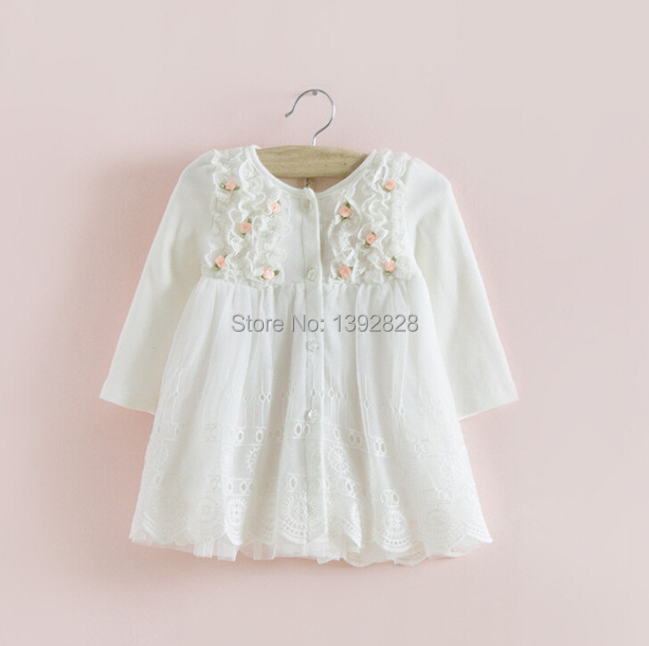 2015 hot sale IDEA Autumn cotton Kids clothes newborn Girls indant dress baby clothing baby girls