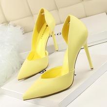 Women Pumps Fashion High Heels Black Pink Yellow Shoes Bridal Wedding Las China