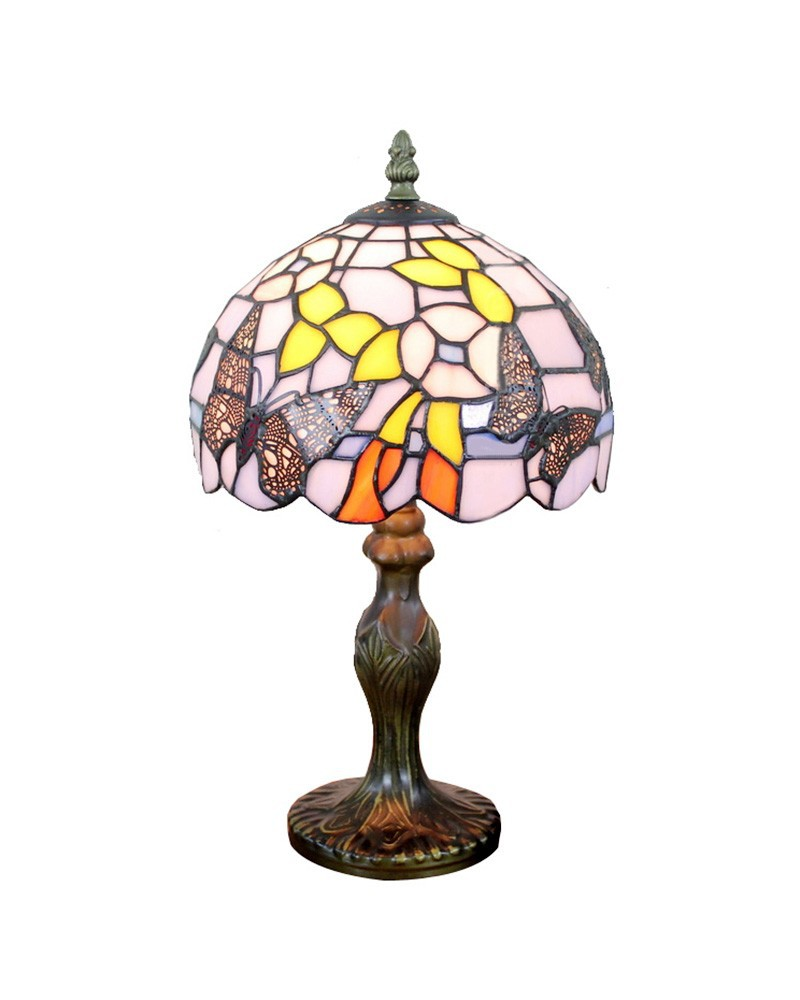 2019 Wholesale Ems Free Table Lamps Tiffany Style Butterfly Design