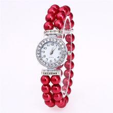 Модные женские часы, женские наручные часы, роскошные повседневные кварцевые наручные часы с жемчужинами, relojes mujer montre femme, Прямая поставка(Китай)