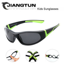 JIANGTUN Super Light Kids TR90 Polarized Sunglasses Children Outdoor Safety Brand Glasses Flexible Rubber Oculos Infantil
