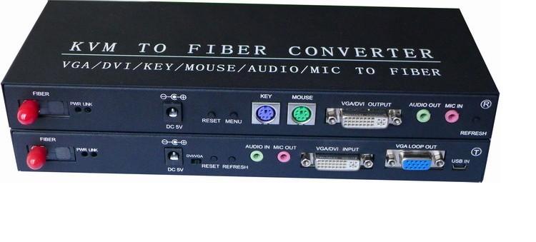 Kvm To Fiber Converter Kvm Optical Transmitter Supports