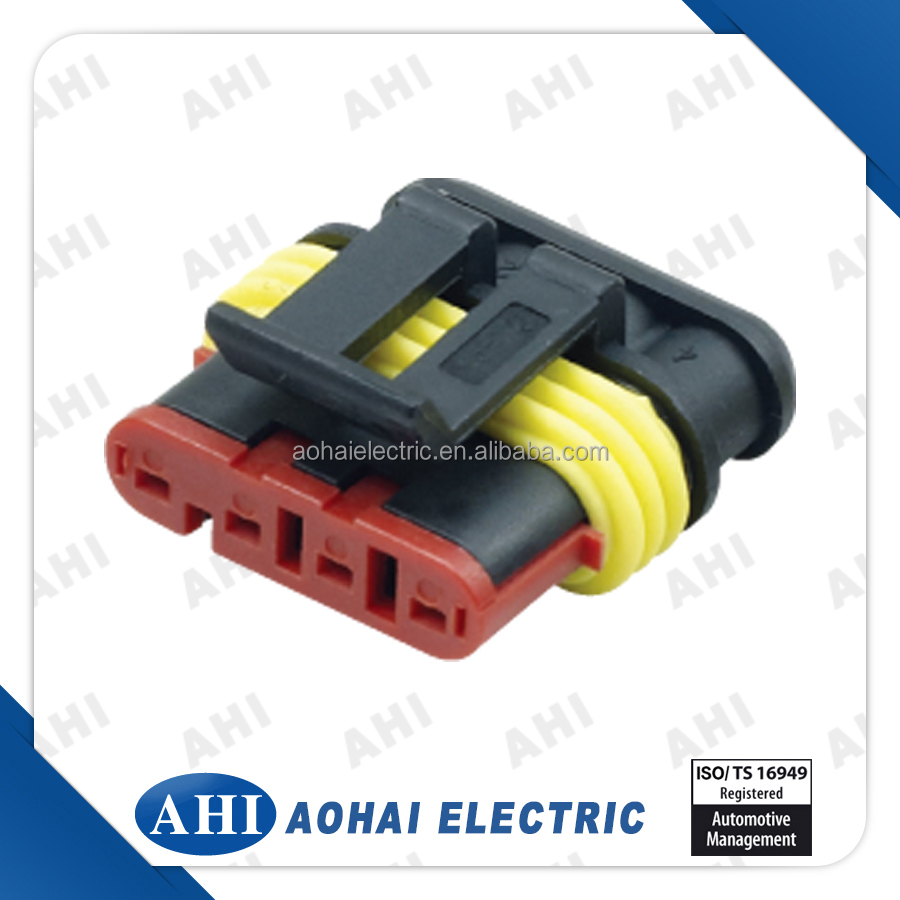 4-Pin-Auto-Plastic-Male--Waterproof  Conductor Wiring Harness Connector Types on