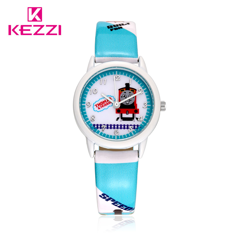Kezzi Brand Kids Watch Cartoon Train Printing Quartz Wrist Watch Child Boy Girl Clock Watches relogio reloj ninos montre enfant