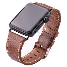 Мягкие Тонкие Ремешки для наручных часов из натуральной кожи для Apple Watch Series 4 3 2 1 общий размер 38 мм 42 мм для женщин и мужчин ремешок для часов ...(Китай)