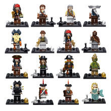 Single Sale New type Pirates of the Caribbean building blocks sets action minifigures bricks toy for children lego compatible
