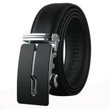 new 2015 automatic buckle belt Cowhide leather men belt luxury belts for men