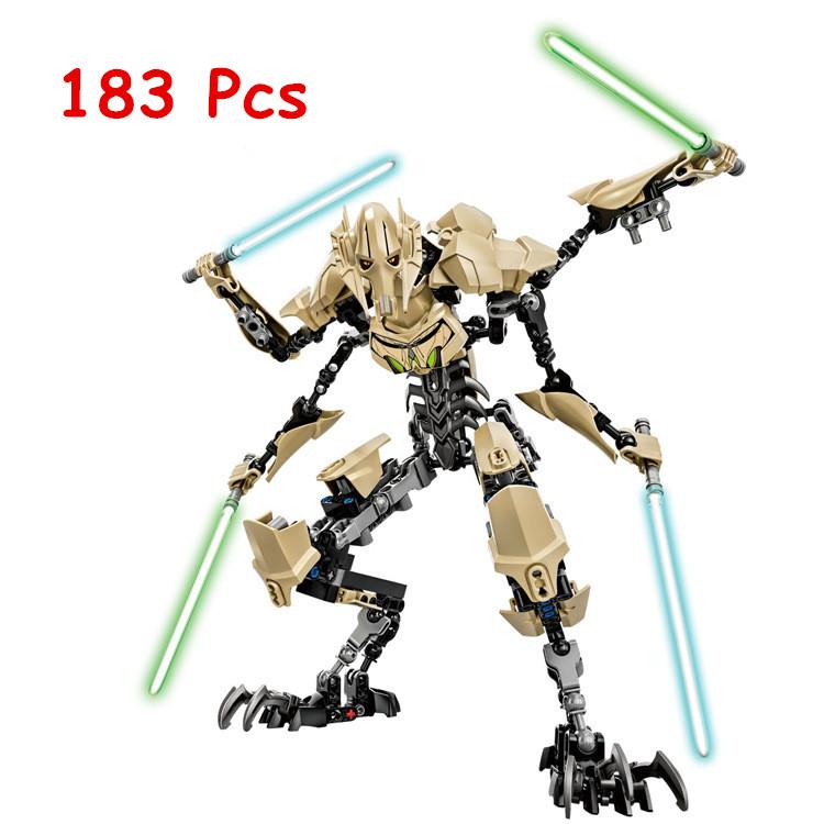 NEW KSZ Star Wars General Grievous with Lightsaber Storm Trooper w/gun Figure toys building blocks set compatible with lego