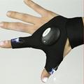 1Pair Fishing Gloves Runing Gloves LED Lighting Fingerless Sport Gloves Fitness Gloves For Camping Fishing Car