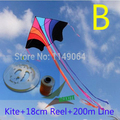 free shipping high quality flying rainbow kite with100m handle line kite fabric ripstop kids kites factory
