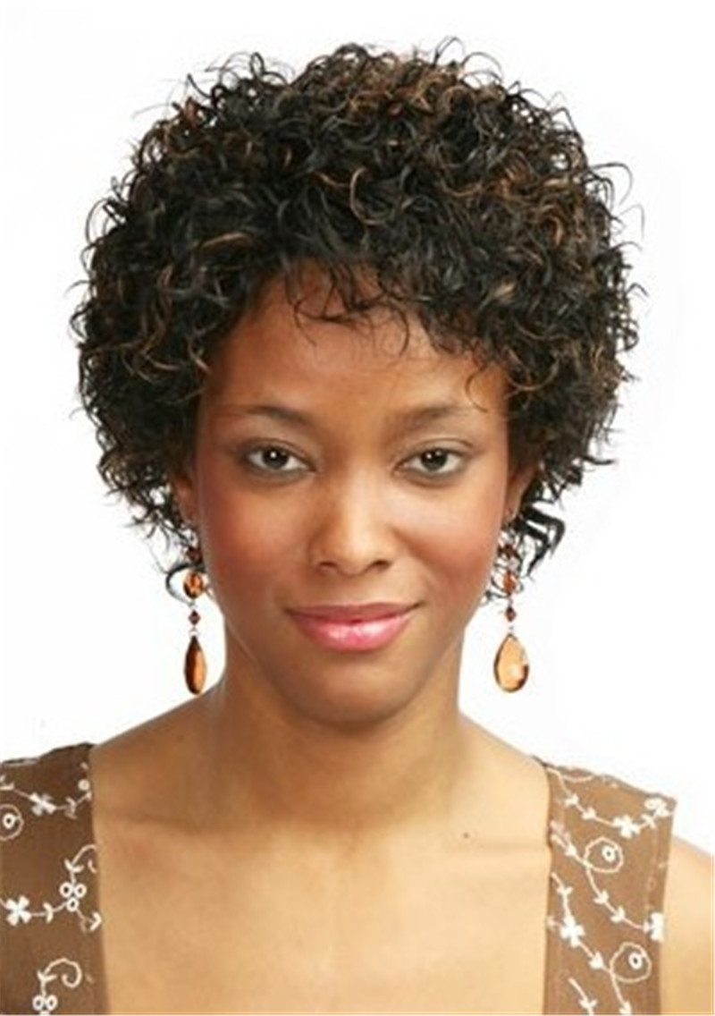 afro Ombre Short Hair Wigs For Black Women Natural Cheap