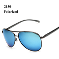 Driving sun glasses men brand designer 2016 polarized sunglasses with spring hinge Aluminum Magnesium legs gafas