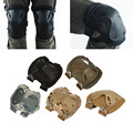 5Color Airsoft Tactical Adjustable Knee Elbow Protective Pads Set Protective Gear Sports Hunting Shooting Pads