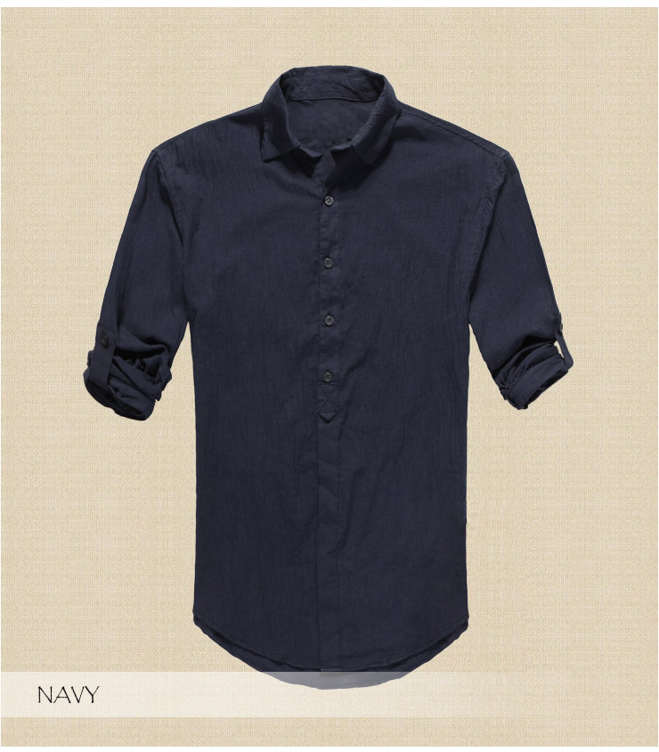 79318cbb4e9d Quick Drying Men s Casual Chambray Shirts Summer Beach Style Outdoor ...