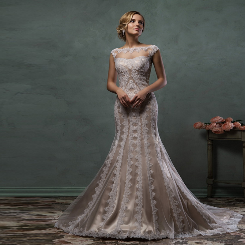 Champagne Vintage Wedding Dresses: Compare Prices On Champagne Colored Vintage Lace Wedding