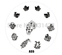 2015 new A Series A35 Nail Art Polish DIY Stamping Plates Image Templates Nail Stamp Stencil