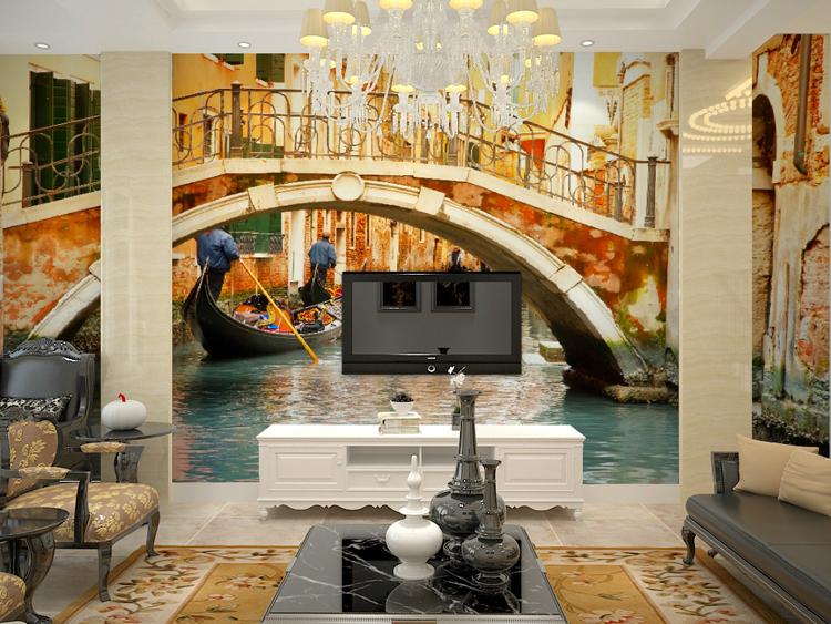 Aliexpress Com Buy Large Custom Mural Wallpapers Living: Mural Venice 3D Large Mural Wallpaper Bedroom Sofa Living