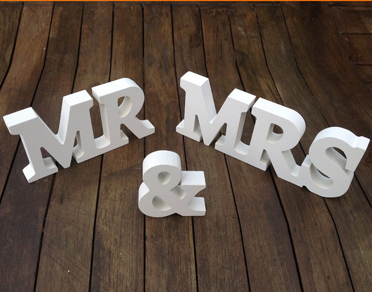 Mr And Mrs Large Wooden Letters: Wooden Mr Mrs Wedding Props Wool Letter Decoration Wedding