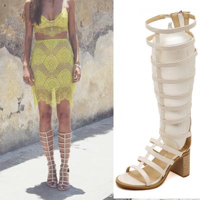 femmes long spartiates knee high summer bottes cross sangle pompes haute plate forme de talon. Black Bedroom Furniture Sets. Home Design Ideas