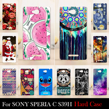 FOR SONY Ericsson xperia c s39h s2305 Case Hard Plastic Cellphone Mask Case Protective Cover Housing Skin Mask