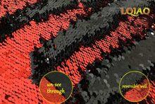 125*45 см неоновый розовый/белый и золотой/радужный двусторонний вышитый Русалка блесток ткань для платья/фото фон Свадебный декор(Китай)