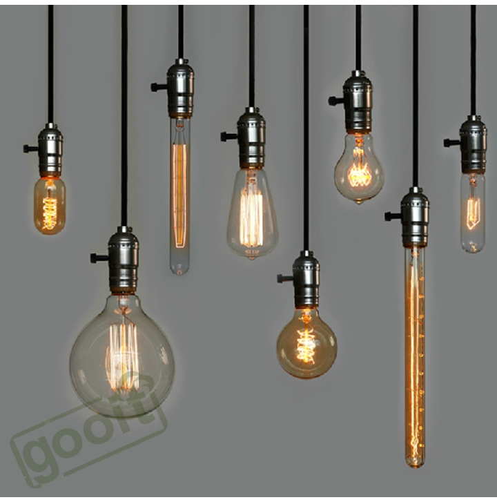 Retro Incandescent Vintage Light Bulb St64 Diy Handmade Edison Fixtures E27 220v 40w Lamp Bulbs For Pendant Lamps