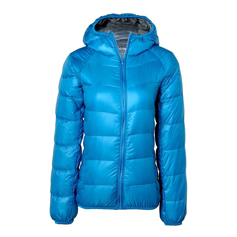 2016 Newest Women Ultra Light Duck Down Jacket Hooded Portable Coat Casual Slim font b Winter