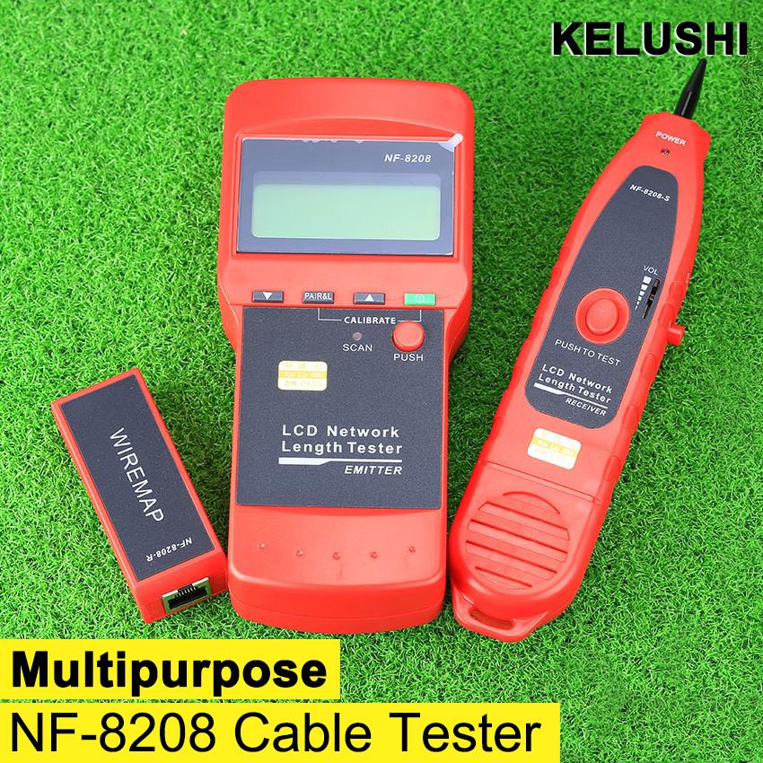 KELUSHI NF 8208 Multipurpose LCD Display Network LAN Continuity Tester Cable inspection Wire Tracker tester fast