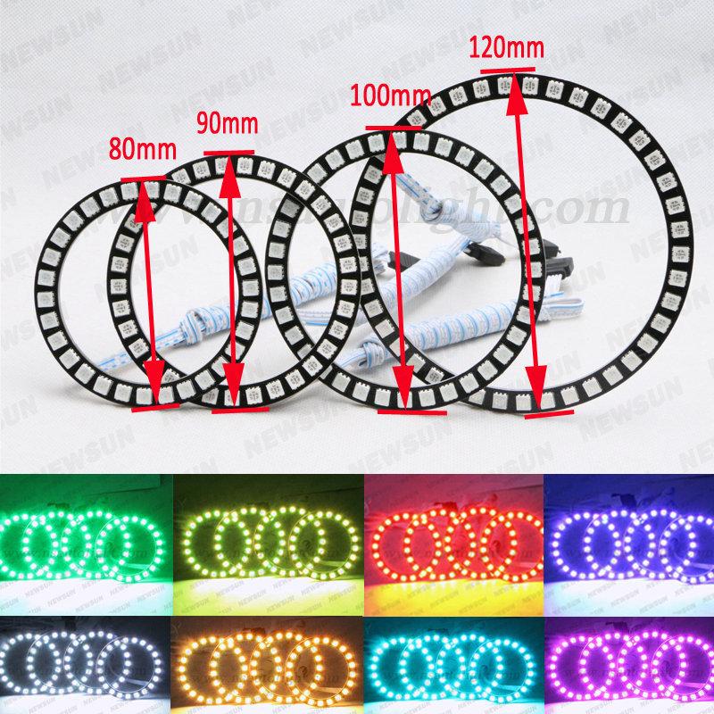 360 Degree Shine Color Changing Led Angel Eyes Kits Rgb