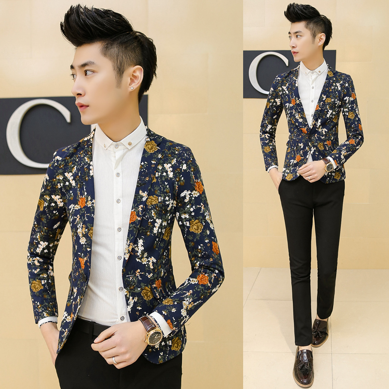 men-floral-blazers-2015-korean-male-singer-costume-stage ...