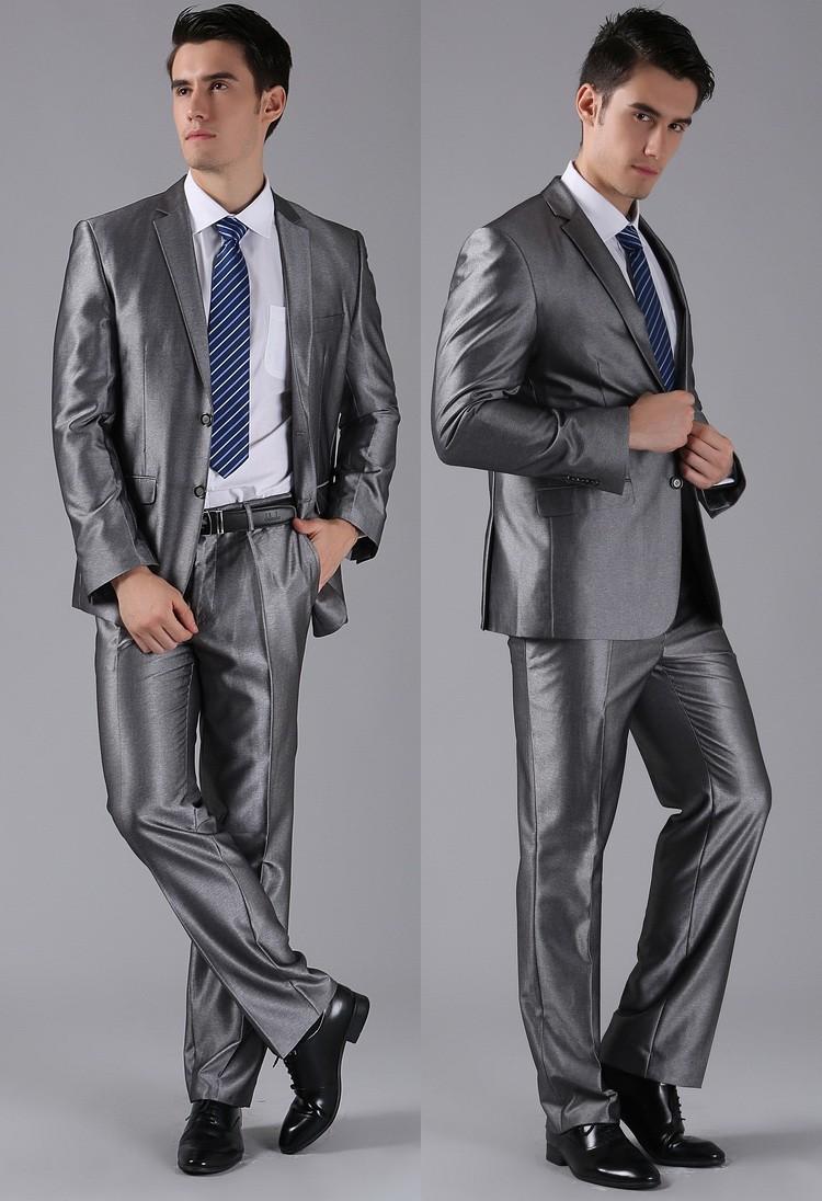 (Kurtki + Spodnie) 2016 Nowych Mężczyzna Garnitury Slim Fit Niestandardowe Garnitury Smokingi Marka Moda Bridegroon Biznes Suknia Ślubna Blazer H0285 29