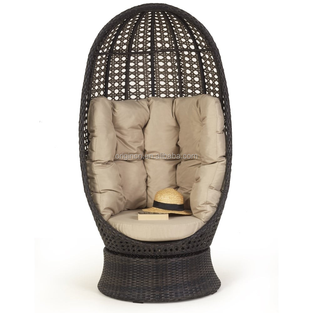 Luxurious Egg Shaped Garden Decorative Swivel Sun Lounge