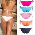 2016 Hotsale Tie Side Brazilian Bikini Bottoms Tanga Womens Ladies Sexy Thong Bikini bottom Bathing Beach