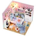 Handmade Doll House Furniture Miniatura Diy Doll Houses Miniature Dollhouse Wooden Toys For Children Grownups Birthday