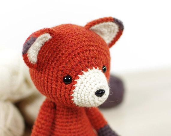 Amigurumi Pattern Premium: Baby Kit Fox Milo - Rattle - Baby ... | 453x570