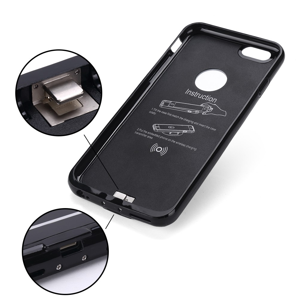 2016 3 in 1 qi wireless direct charging pad receiver case for iphone 6 6s plus. Black Bedroom Furniture Sets. Home Design Ideas