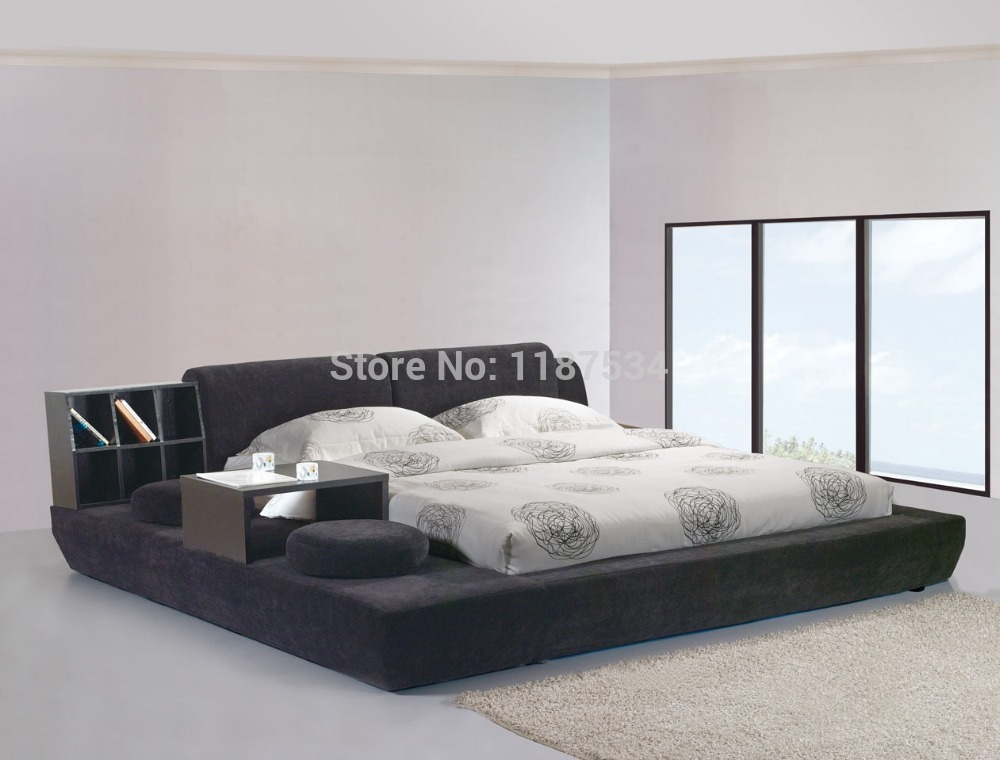 lit king tissu. Black Bedroom Furniture Sets. Home Design Ideas