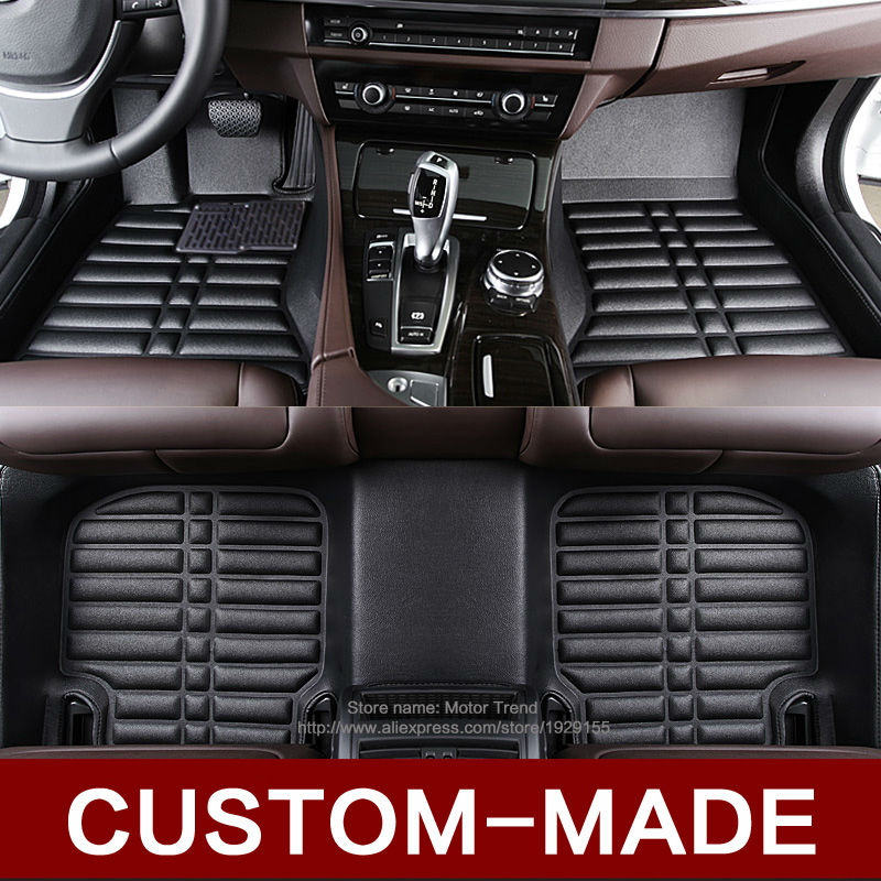 Custom fit car floor mats special for BMW X5 E70 F15 Leather heavy duty 3D car