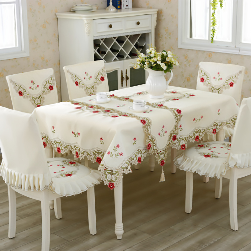 embroidered table cloth classic round square home banquet tablecloth manteles para mesa nappe. Black Bedroom Furniture Sets. Home Design Ideas
